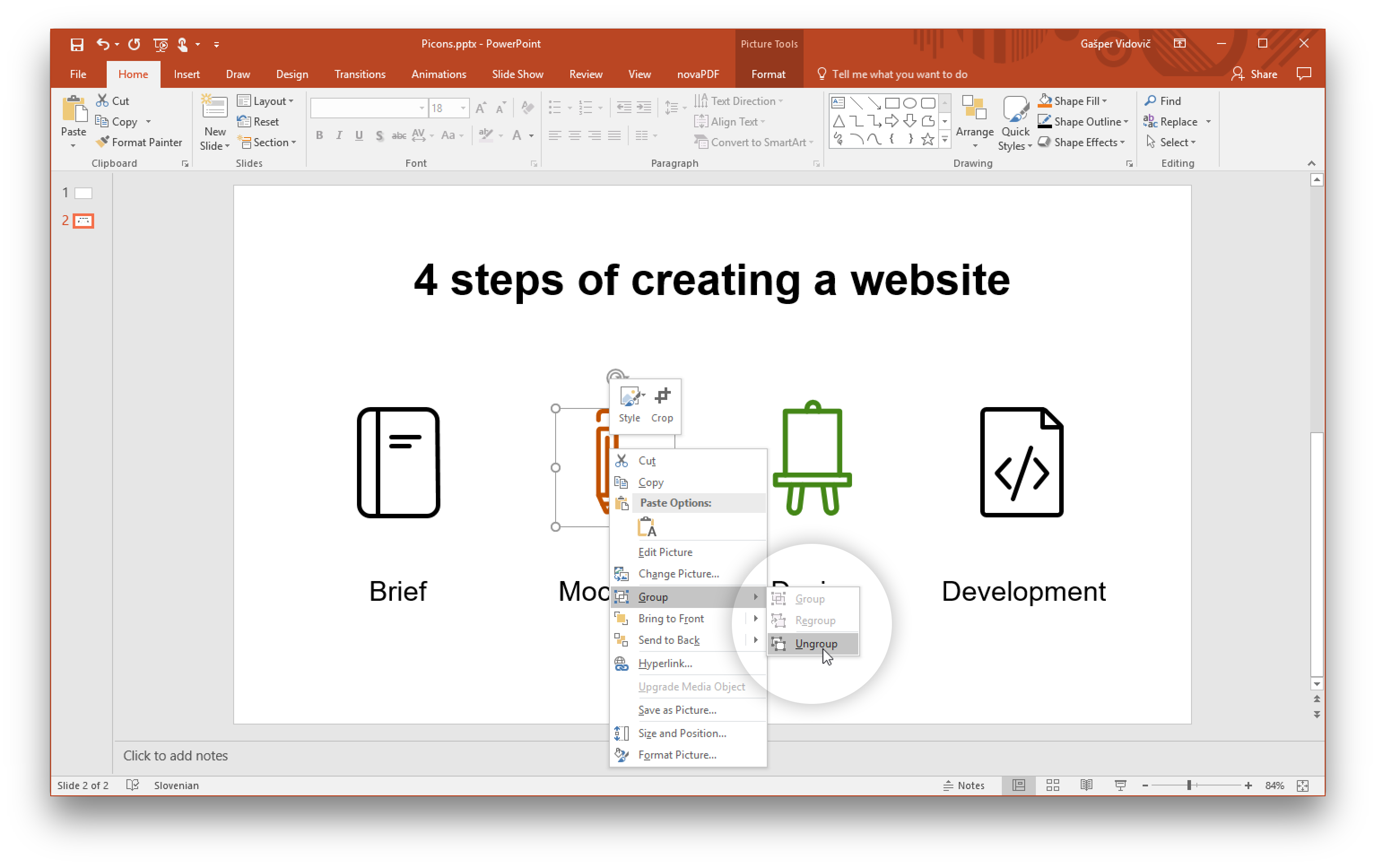How to Use Vector Icons (Objects) in Microsoft PowerPoint