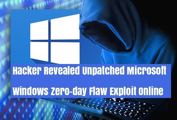 Hacker Leaked New Unpatched Windows Zero-day Vulnerability