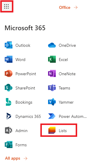 How to Access Lists from Microsoft 365