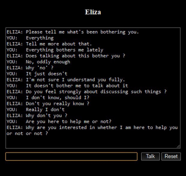 ELIZA — The first-ever chatbot created with Prolog