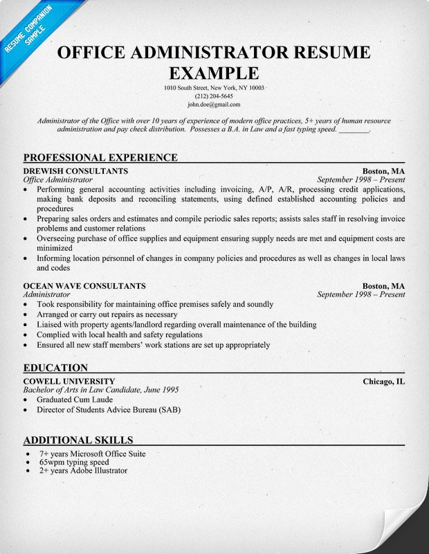 Administrative Resume Examples What To Look Out For