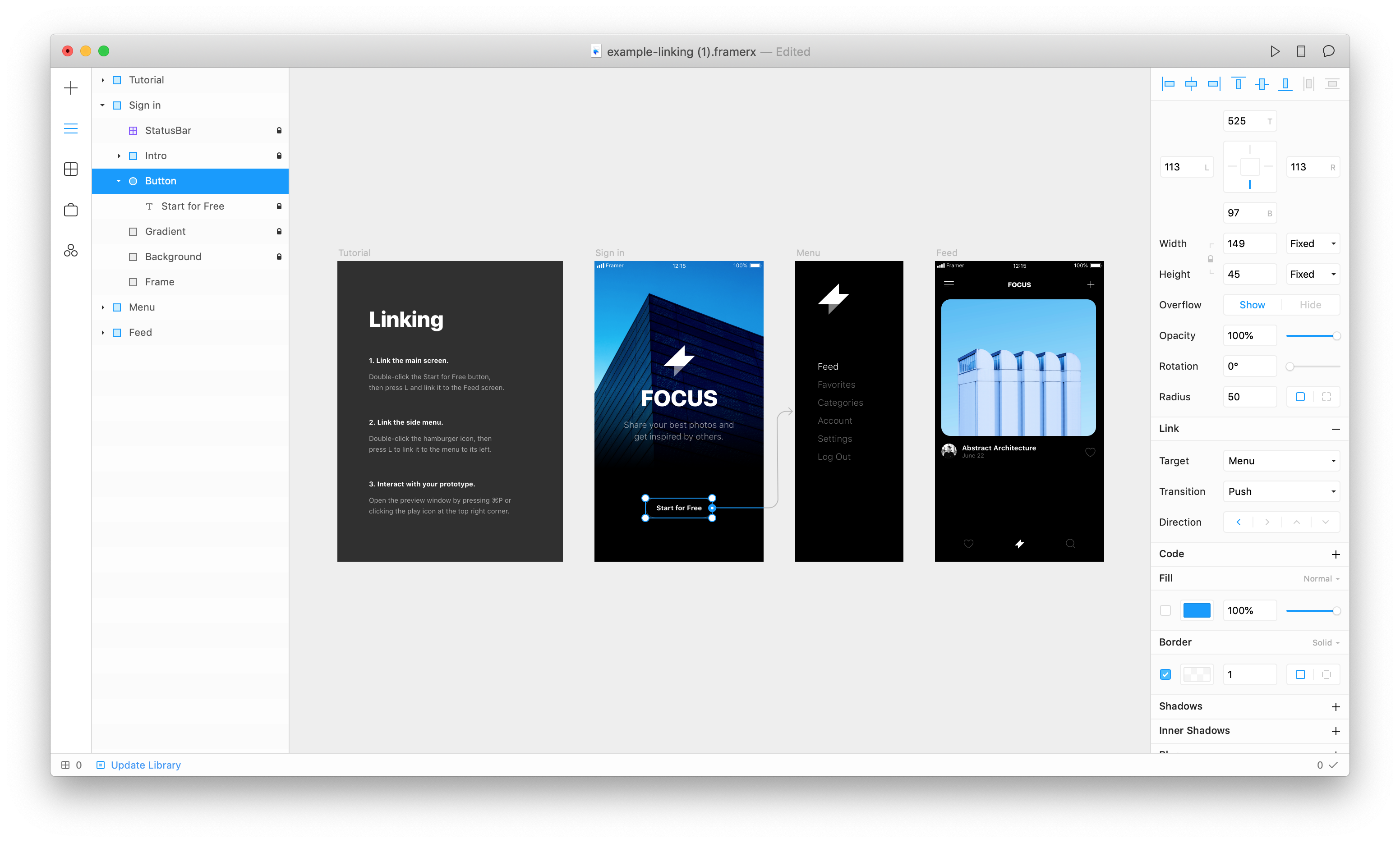 Prototyping design animations with Framer X - UX Collective
