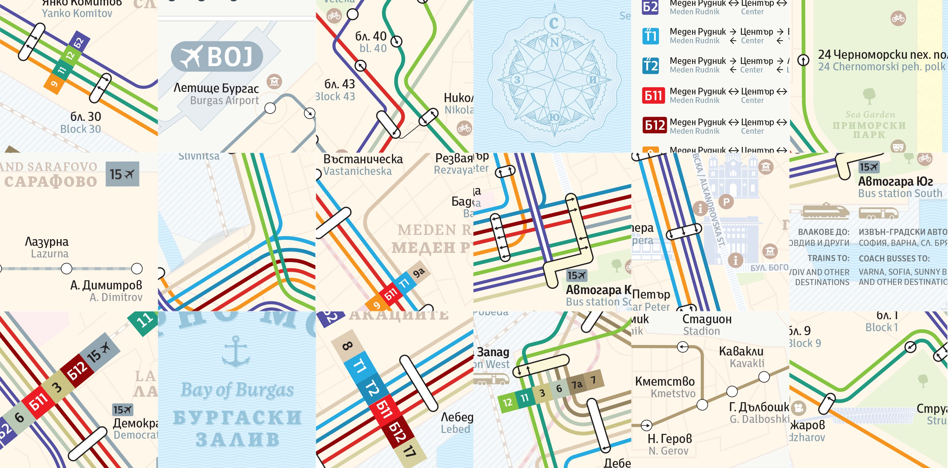 Burgas Public Transportation Map Diagram Redesign Muzli Design