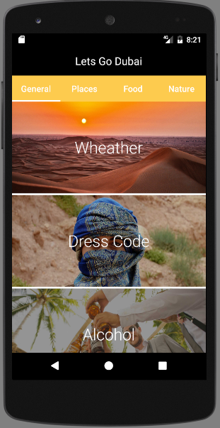 TabLayout and ViewPager in your Android App  Dubai Tour Guide App #3