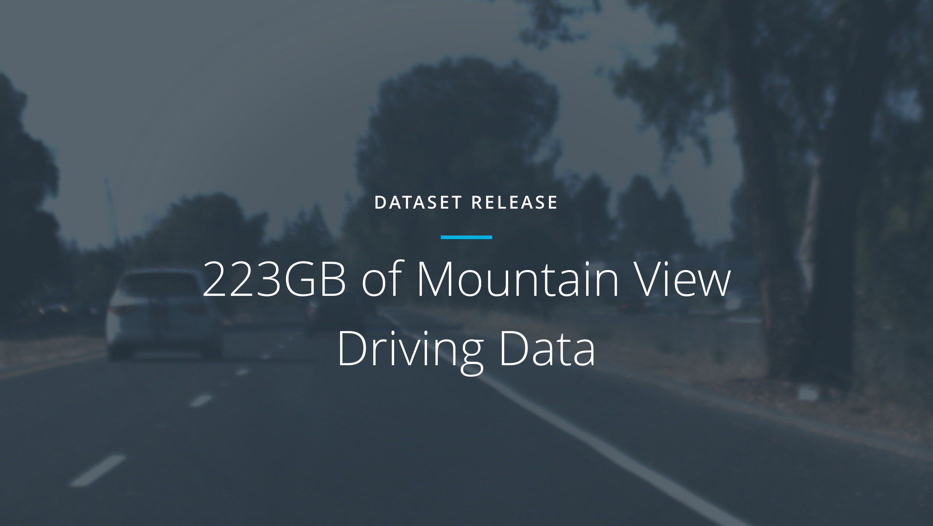 Open Sourcing 223GB of Driving Data - Udacity Inc - Medium
