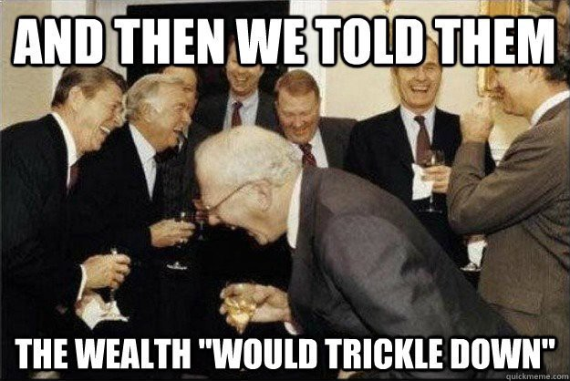 Image result for trickle down reagan""