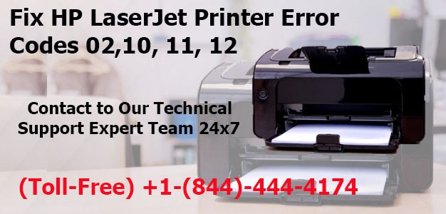 Call +1–844–444–4174 Fix HP LaserJet Printer Error Codes 02