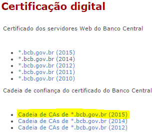 Data series from Brazilian Central Bank - Hack in Rio