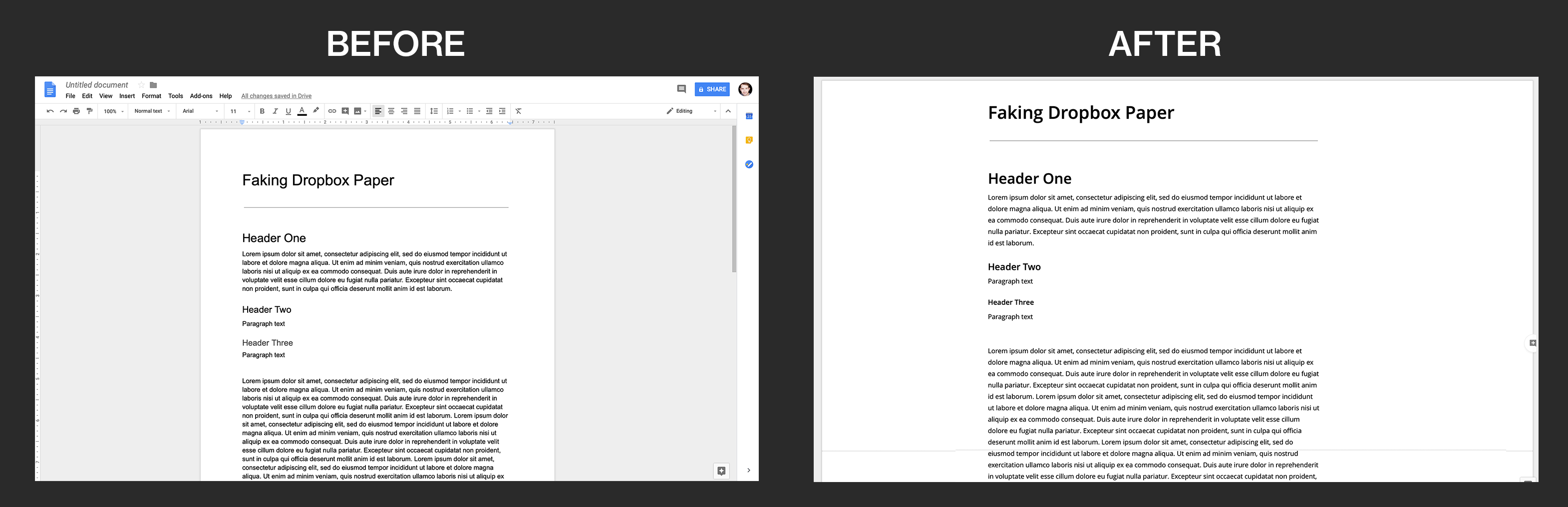 How to Make Google Docs Look Like Dropbox Paper - Featured