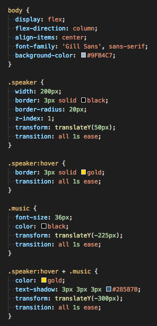 Creative CSS hover animations via the adjacent sibling