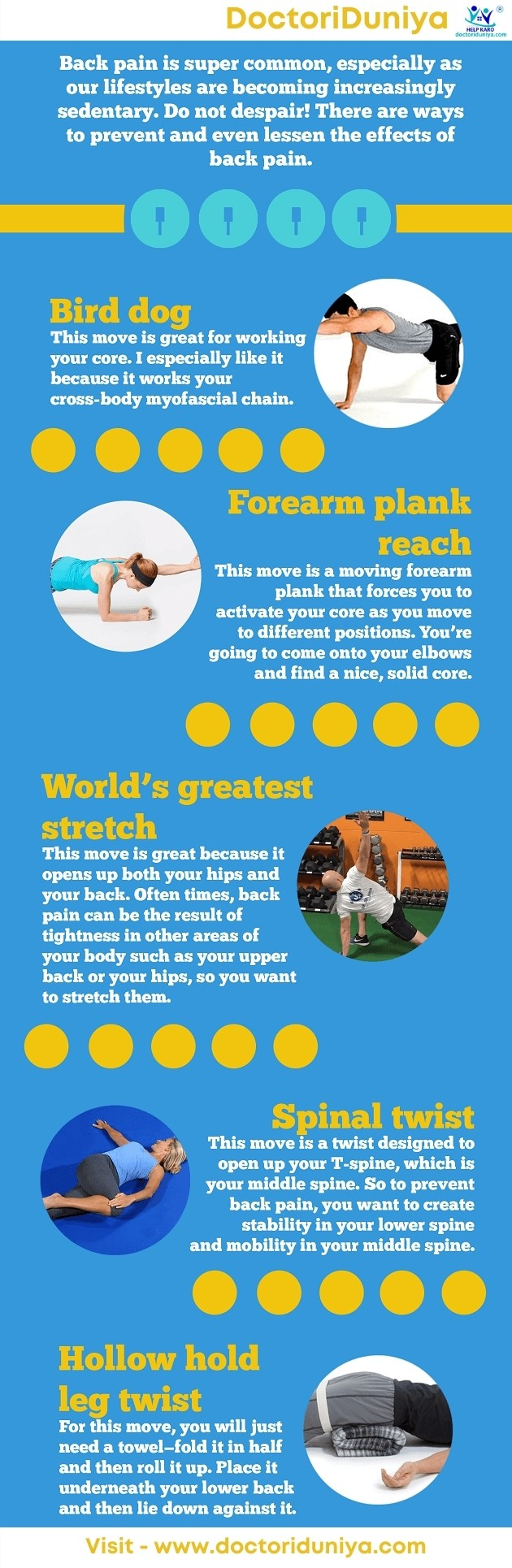 Exercises for back apin