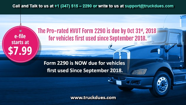 2290 form online 2018  October 13 is the deadline for heavy vehicles used in ...