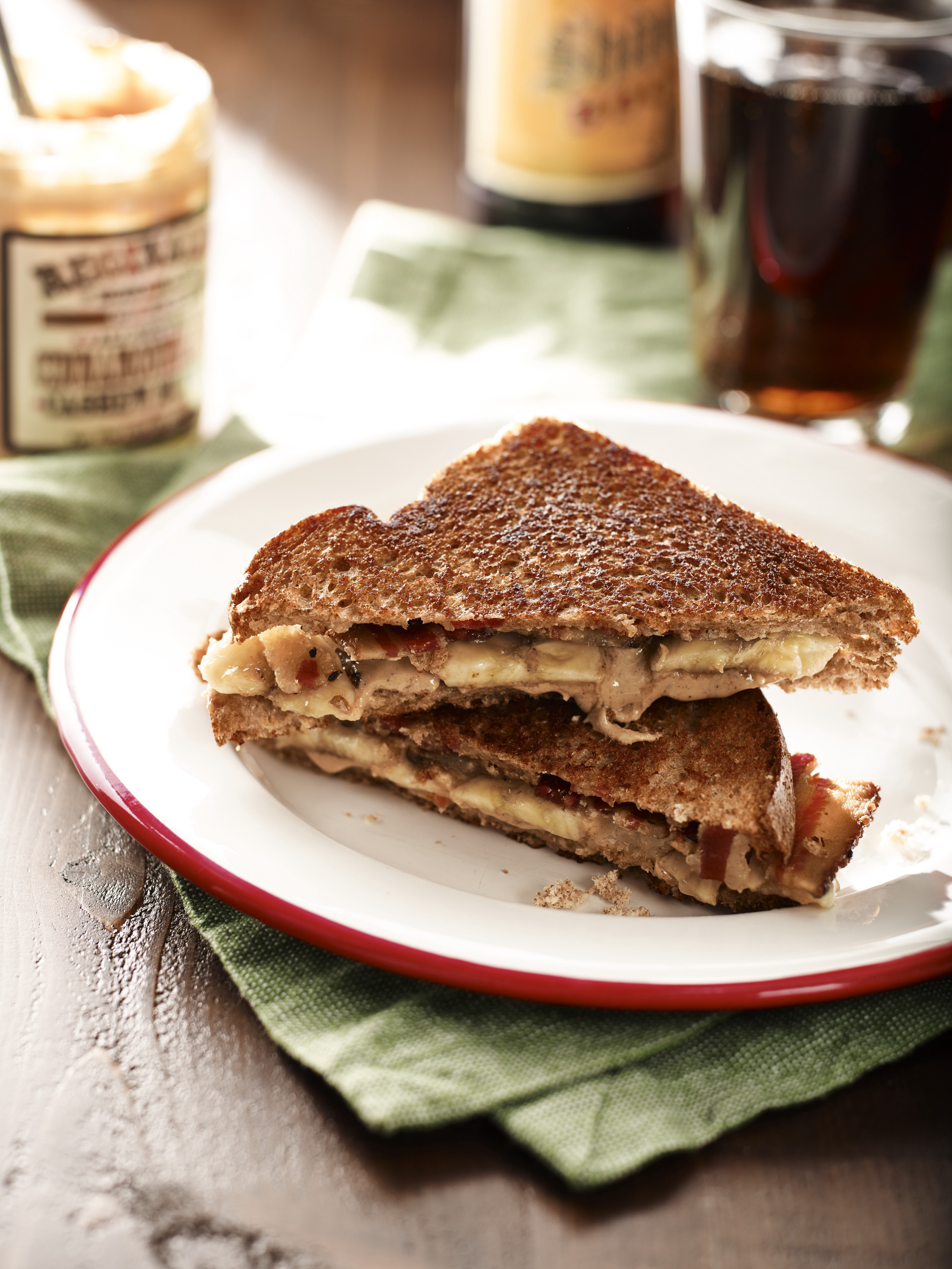 The Elvis Cashew Butter Banana Bacon Sandwich Recipe By Mantry Medium