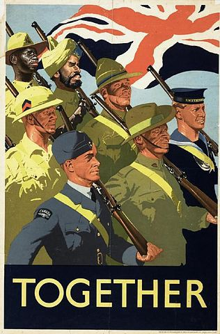 A 1939 propaganda poster promoting the contribution and need of the whole British Empire in WW2.