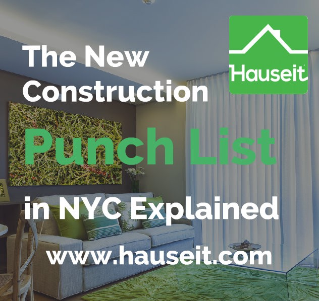 What Is a New Construction Punch List in NYC Real Estate?