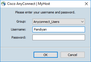 Setting Multiple profile in Cisco AnyConnect — Windows