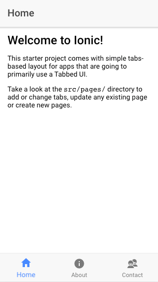 Add Logout and Menu to Header in Tabs Template in Ionic3