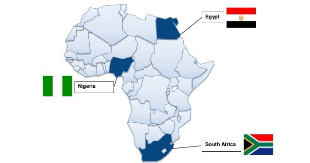 Africa Superpower Contenders — Nigeria, South Africa, Egypt
