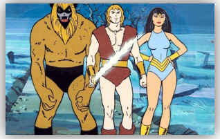Ookla the Moc, Thundarr with Sunsword, and Princess Ariel