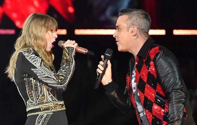Taylor Swift Shares The Stage With Robbie Williams Ed Sheeran Stops Cardiff Concert And Xxxtentacion Public Memorial Announced By Aural Hub Medium