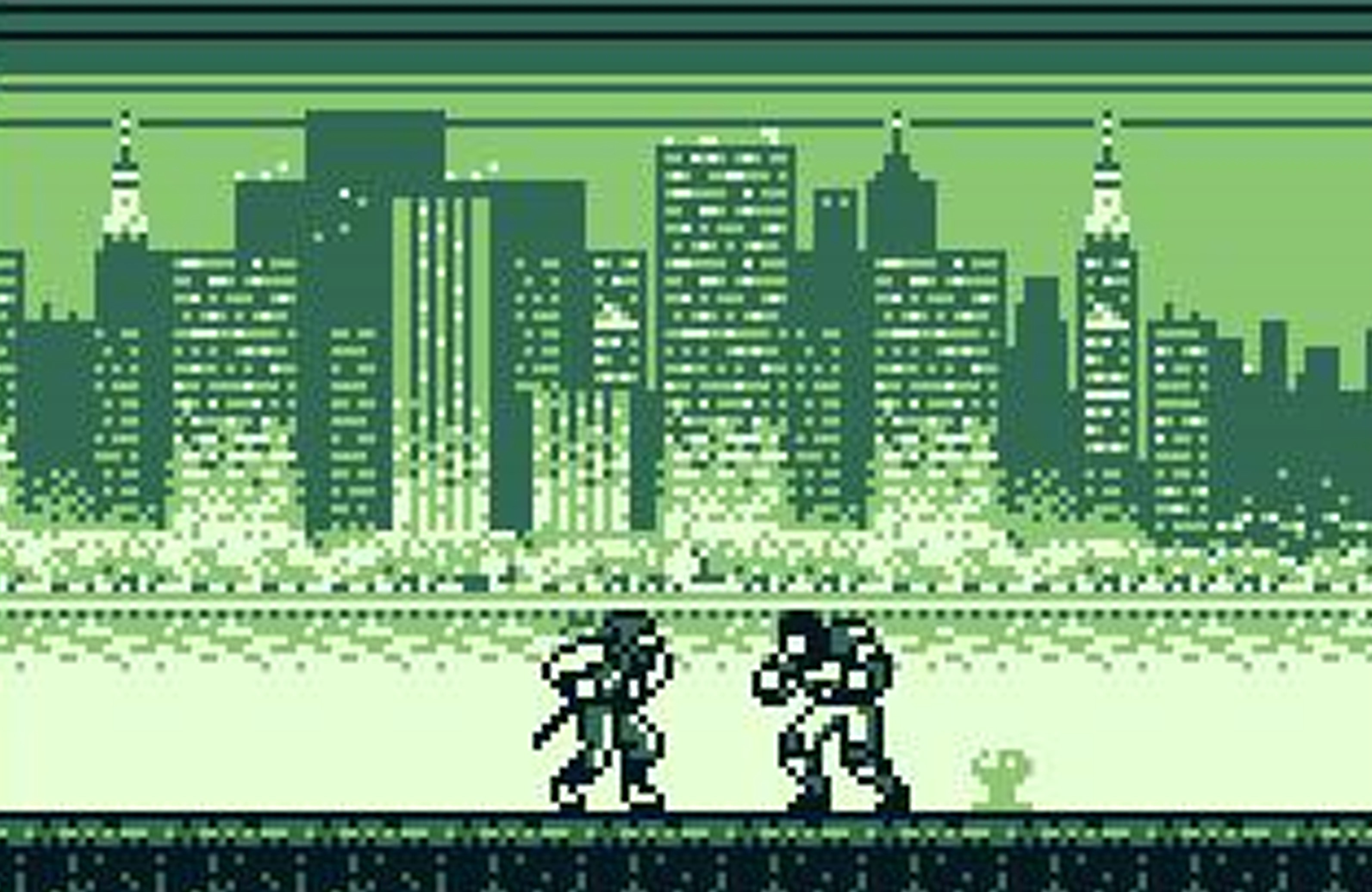screenshot of the videogame shadow warriors, running on gameboy