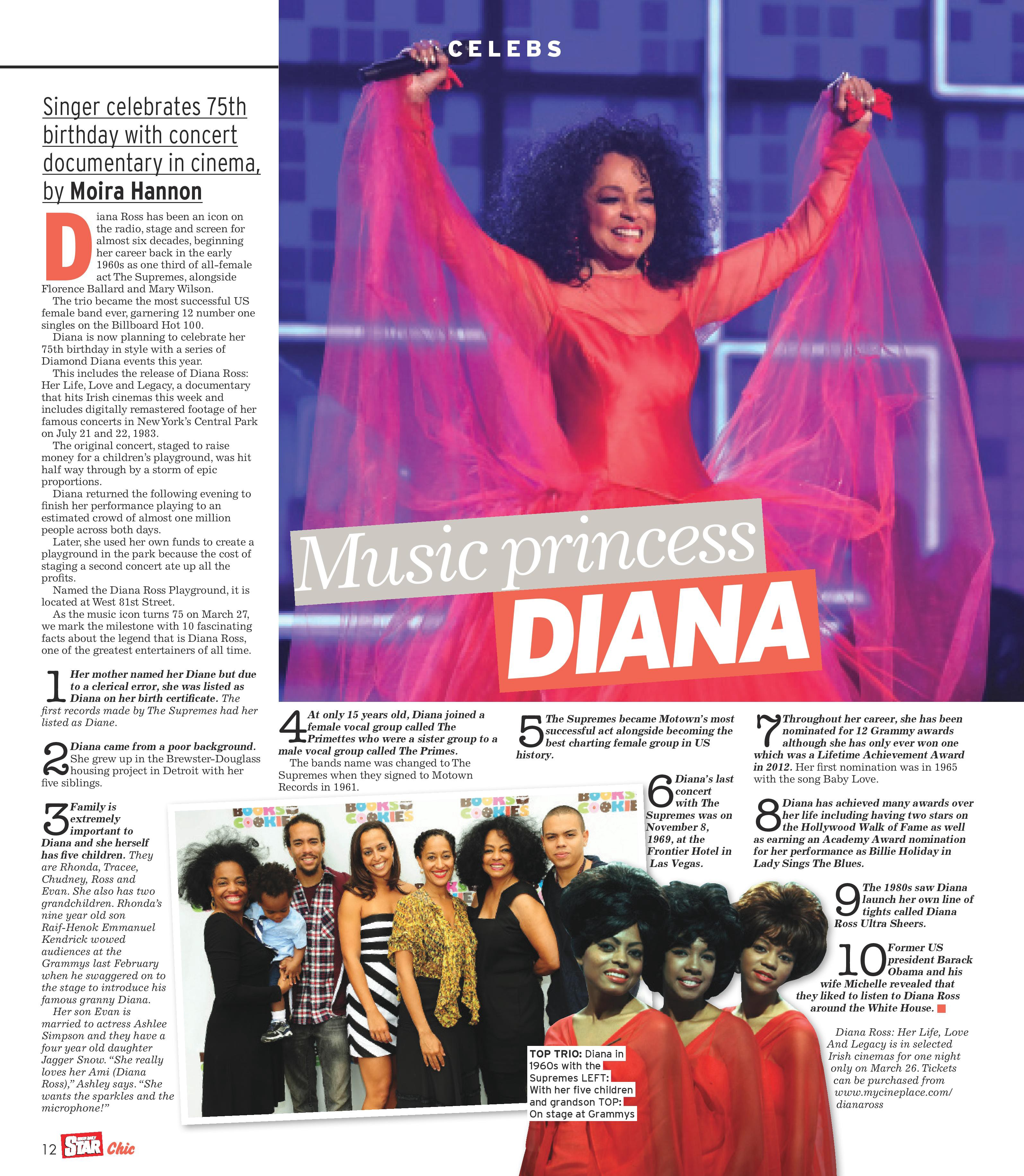 Diana Ross : Her Life, Love & Legacy - CinEvents - Medium