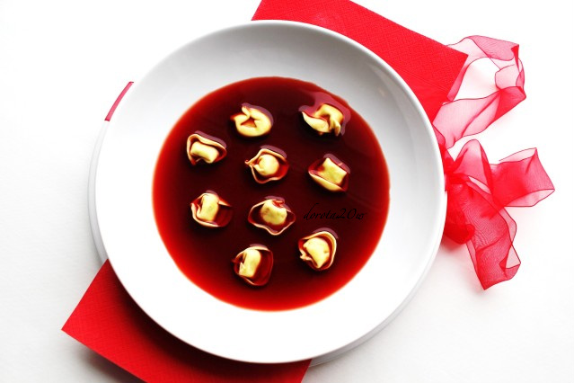 Polish Christmas Hot Beet Soup With Mushroom Dumplings By Marcin Wichary Medium