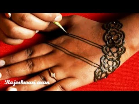 Easy Latest Mehndi Design For Hands Simple Arabic Mehndi Art