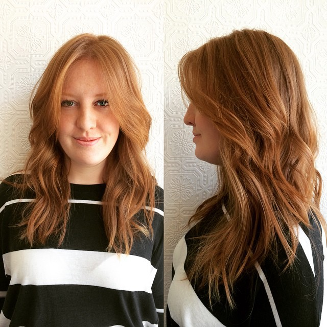 Short Textured Layers With Front Layers And Wave On Long Red Hair By Hairstyleology Medium