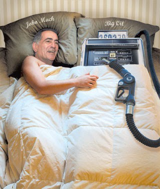 John Mack, former chairman of Morgan Stanley, in bed with a gas pump