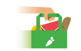Instacart bag with groceries