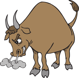 A bull, symbol of surging prices.