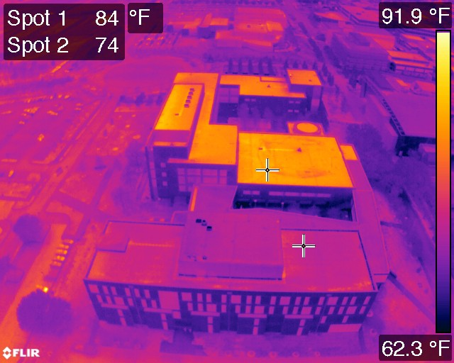 Drone Generated Thermal Maps Are A Game Changer For Roof Inspections By Dronedeploy Dronedeploy S Blog Medium