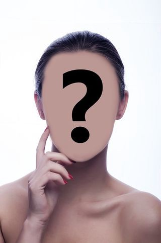graphic of a face covered by a question mark
