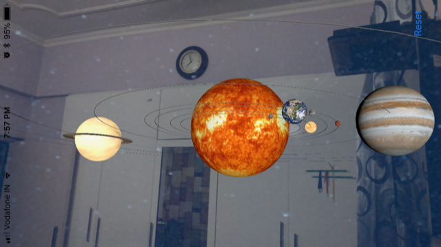 Arkit And Solar System