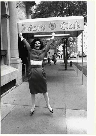 Gloria Allred Outside of The Friars Club in 1988 after she was the first woman to ever have lunch at the club