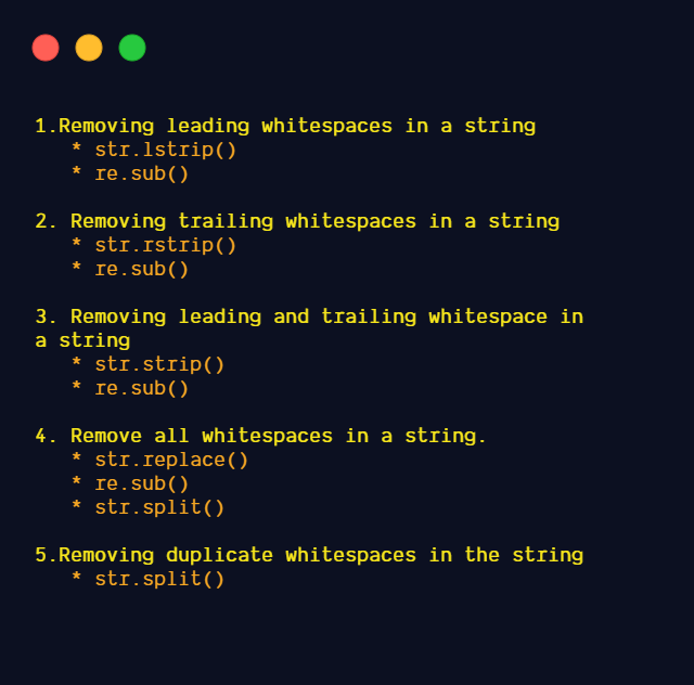 Remove Whitespaces from Strings in Python