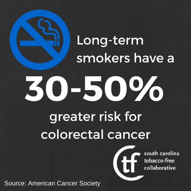 Colon Cancer And Smoking Deadly Partners By Tobacco Free Sc Medium