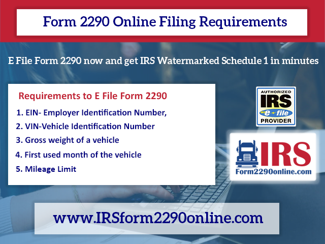 2290 form file online  Form 9 Online Filing Requirements - IRS Form 9 - Medium