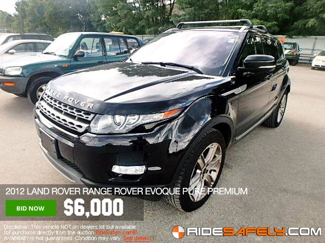 Online Car Auctions >> Shop For Used Salvage Land Rover Cars At The Online Car