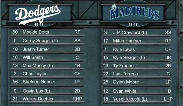 Mariners GameDay - 11 พฤษภาคมที่ Los Angeles-NL