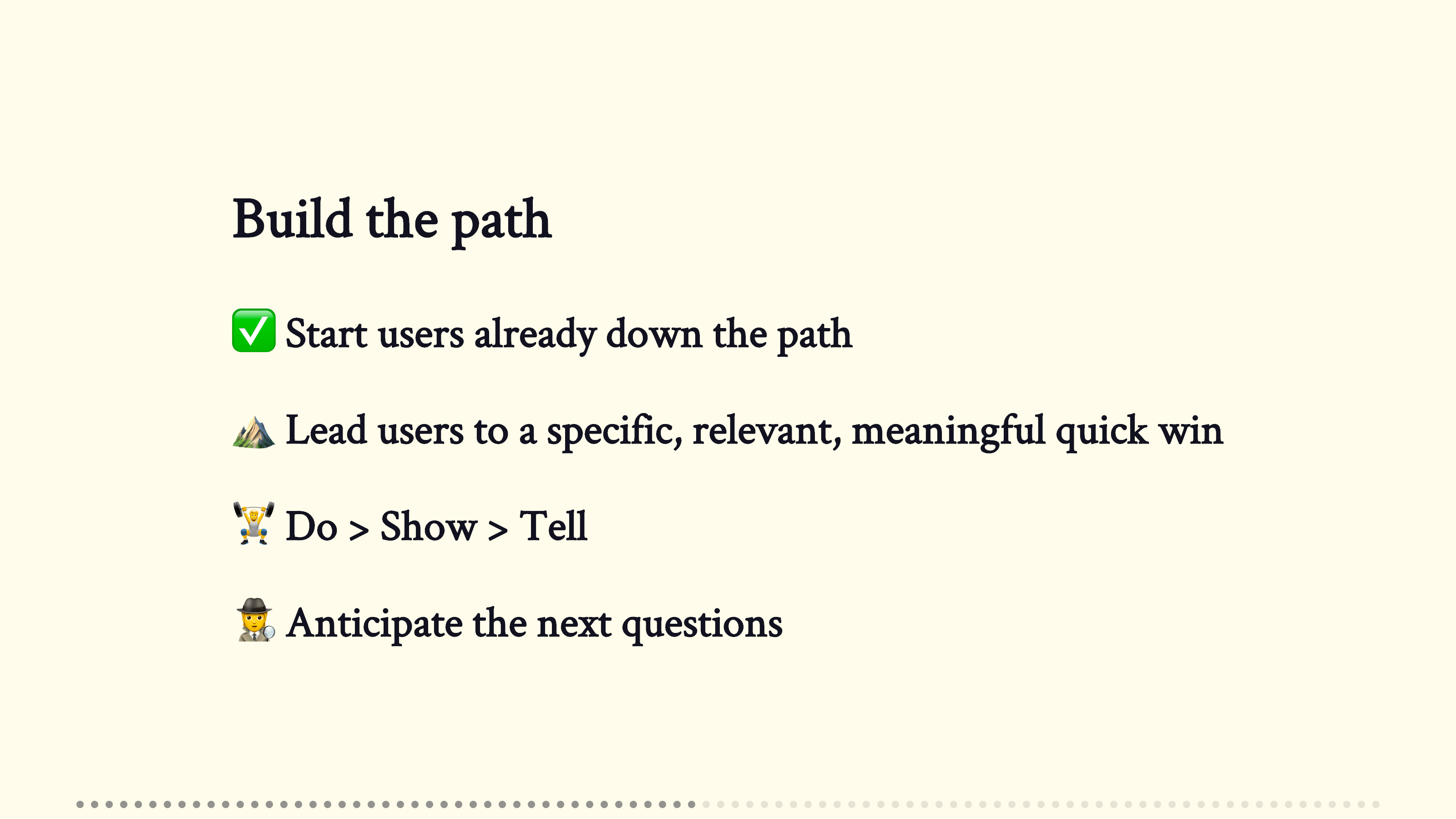 """A slide from the presentation, one day we'll get to """"Do""""…"""