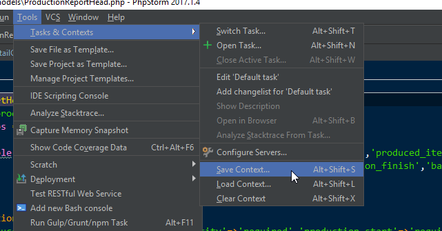 PhpStorm: Tasks & Contexts with Your Git Branches - Jeff