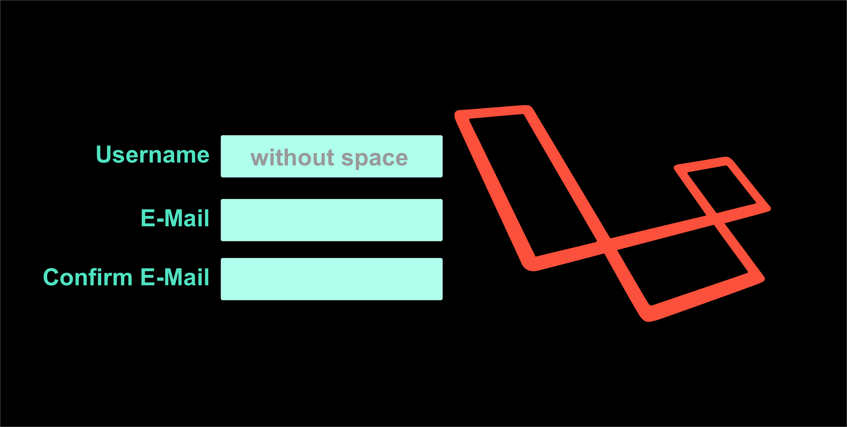 Laravel validation username no space allowed alpha_dash or
