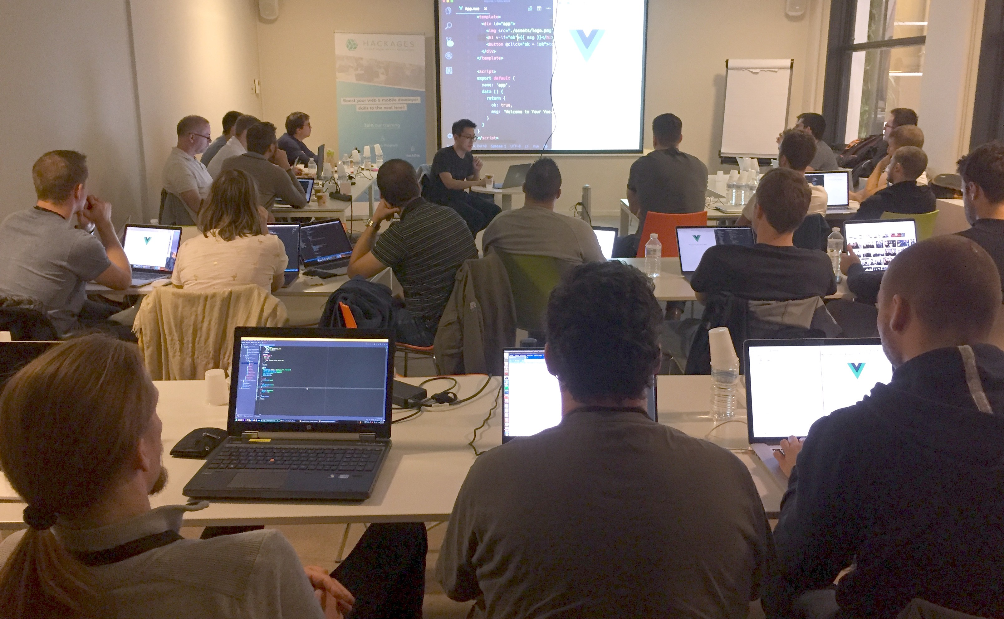 100 Web developers trained in 2 weeks of JavaScript