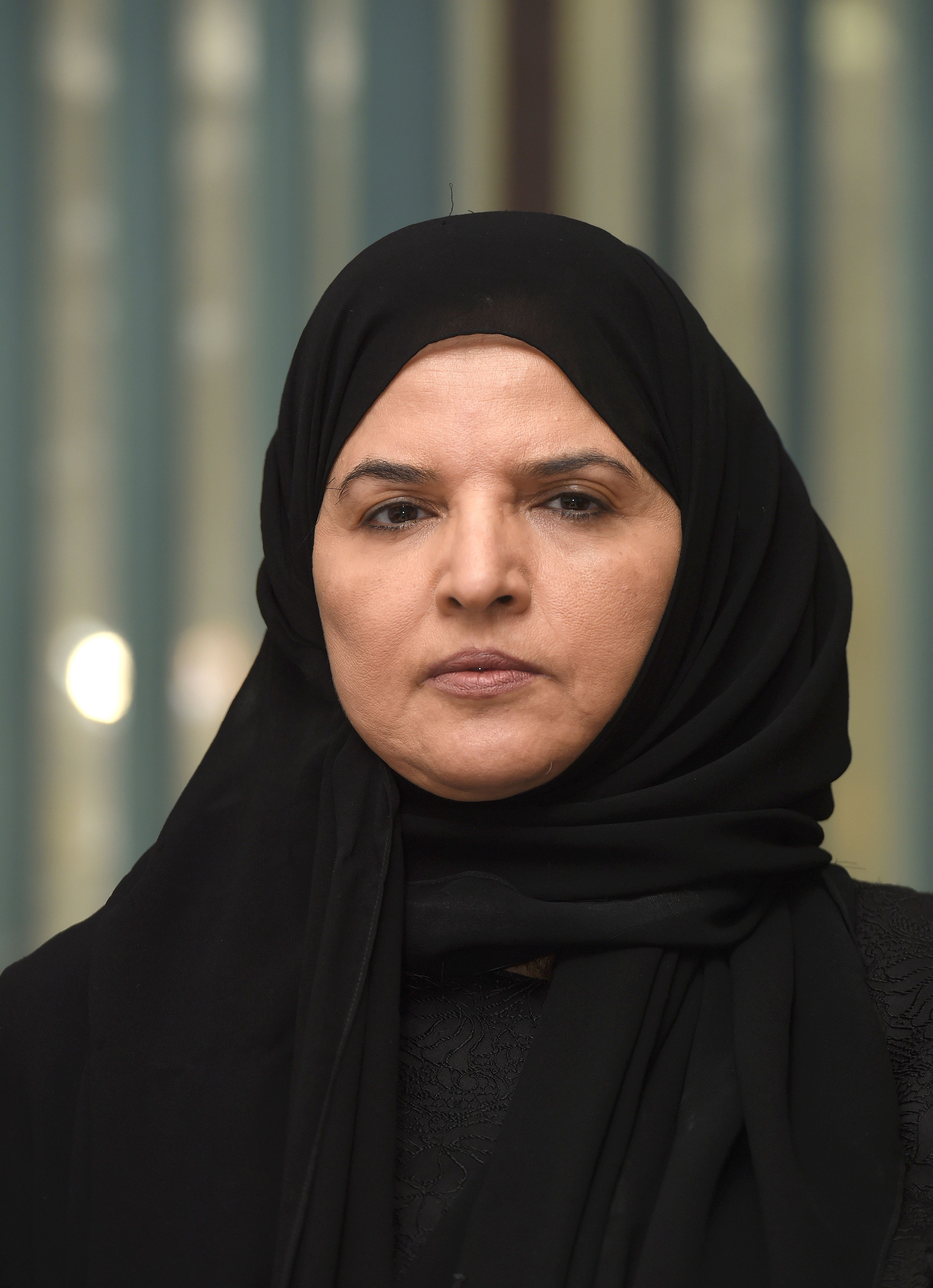 Saudi activist and campaigner Aziza al-Yousef looks on during an interview in the capital Riyadh, on September 27, 2016.