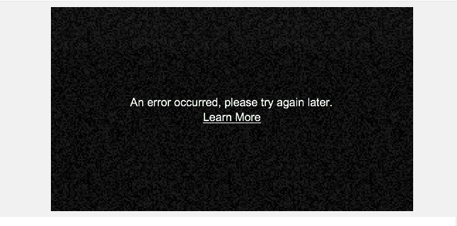 Solved: YouTube videos won't load  'An error occurred, try