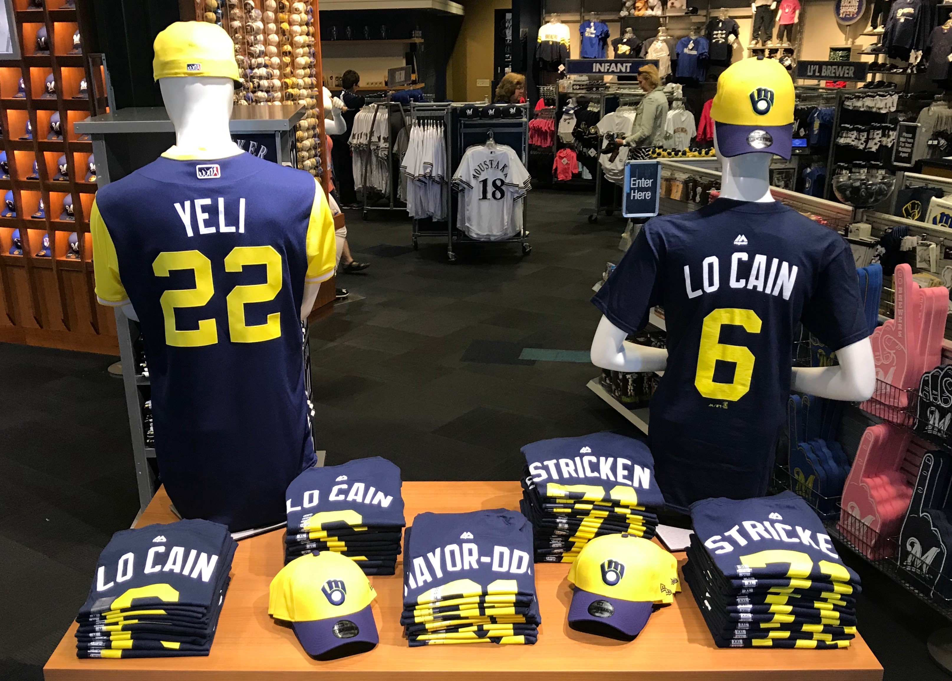 best service 9f8e0 5565c Players' Weekend Merchandise Available at Brewers Team Store