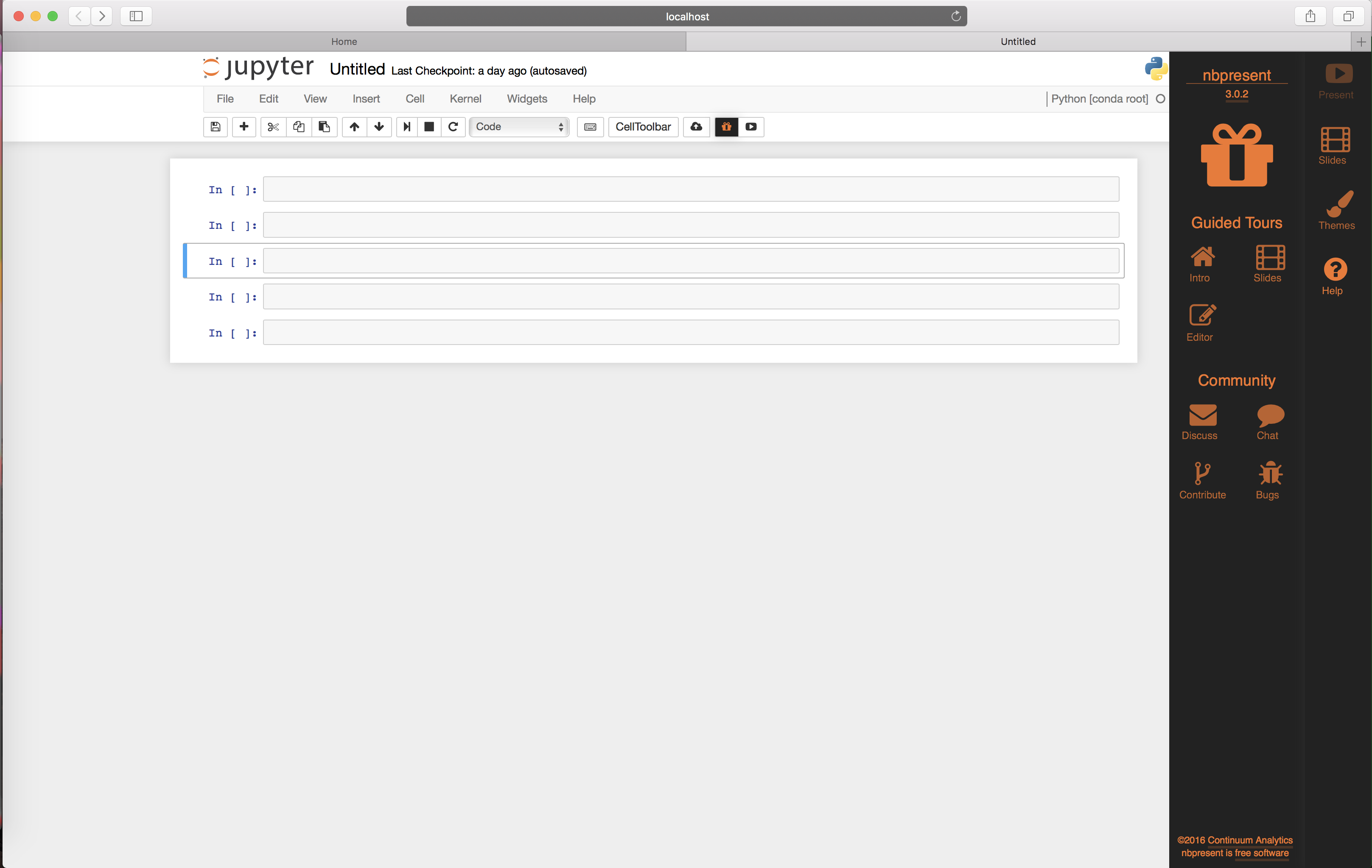 How to do interactive programming in Browser via Jupyter
