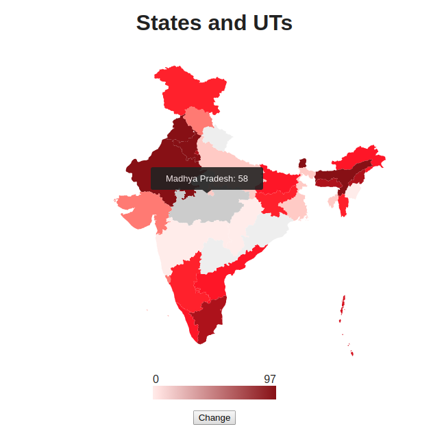 recent choropleth map of india Building Choropleth Map Heatmap Of India In Javascript Using recent choropleth map of india
